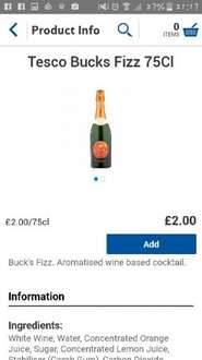 bucks fizz £2 @ Tesco online and instore