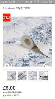 Massive sale on B&Q wallpapers, £5 reduced from £17!