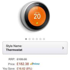 NEST 3rd Gen Thermostat £158.99 (Save £40) @ Amazon