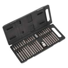 Sealey 40 Piece Torx Star/Hex/Spline Socket Bit Adaptor Set £12.48 twowheeljunkie