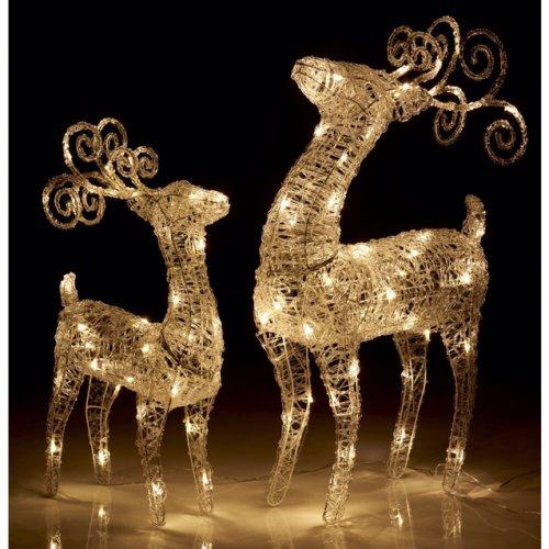 Half Price large Reindeer outdoor light at Wilko! Small reindeer and various other outdoor lights also half price. - £25