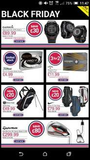 American Golf Black Friday Deals live  - Garmin approach S2 Golf watch for £89.99 plus others. Click on link