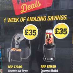 Daewoo Air Fryer 2.5l - £35  - RRP: £79.99 - In Store and Online - Poundland