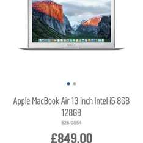 MacBook Air 13 - £764.10 with code @ Argos