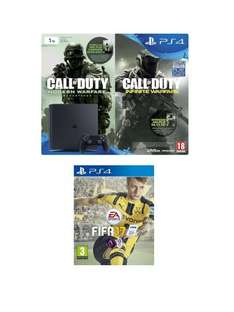 Playstation 4 Slim 1Tb Console with Call of Duty Infinite Warfare Early Access Bundle and FIFA 17 at Very for £329.99