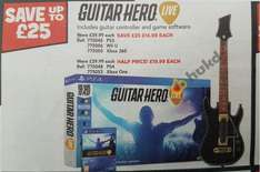 Guitar Hero Live (Wii U/PS3/Xbox 360) £14.99 @ Toys R Us