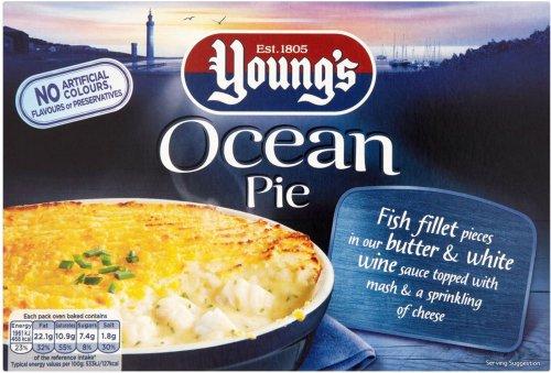 Young's Ocean Pie Frozen (400g) was £2.50 now £1.00 @ Ocado