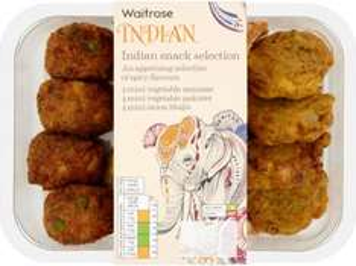Waitrose Indian Snack Selection (320g) was £2.29 now £1.52 @ Waitrose