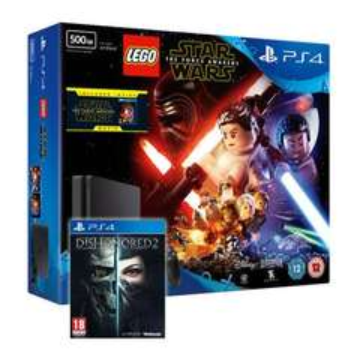 PS4 Slim 500GB Console + Lego Star Wars: TFA + Dishonored 2 + Lego Star Wars: TFA Movie £229 / PS4 Slim 500GB Console + GTA V Bundle + Dishonored 2 £229 @ Shopto / eBay [+ 10x Nectar boost]