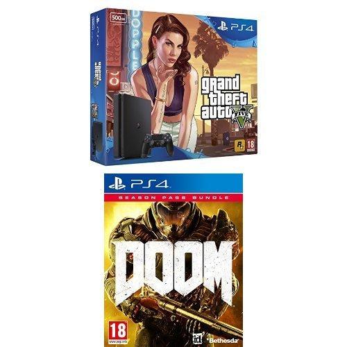 Sony PlayStation 4 500GB with GTA V + Doom with Season Pass £249.99 @ Amazon