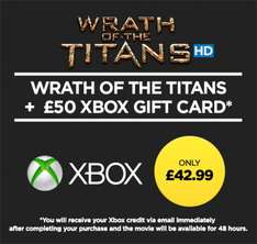 [Xbox] £50 Xbox Credit Plus Wrath Of The Titans Rental-£38.99 (Wuaki)