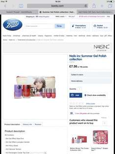 Nails Inc Summer Gel Polish Collection only £7.50 at Boots Online