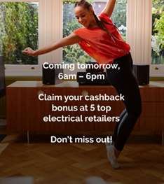 Heads Up - Quidco deal tomorrow (24/11) between 6am and 6pm relates to cashback bonus at top five electrical retailers