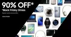 Samsung Black Friday (25/11/2016 - 28/11/2016) up to 90% off.  Also up to 4.95% Quidco Cashback