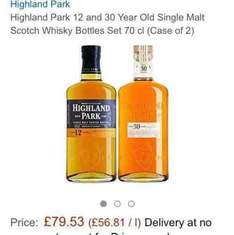 Highland park 12 yo and 30 yo (70cl each) £79.53 at Amazon (Temporarily out of stock) Whisky. too good to be true?