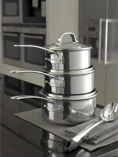 Circulon Genesis 5-piece Stainless Steel Pan Set at Harts of Star for £75