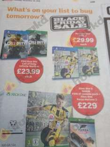 Call of Duty Infinite Warfare £23.99 PS4 and Xbox One Sainsburys