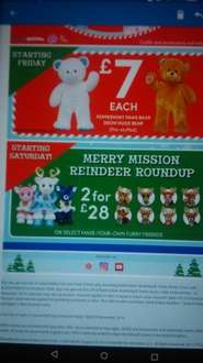 merry mission reindeer roundup 2 for £28 starts this Saturday @ build a bear workshop