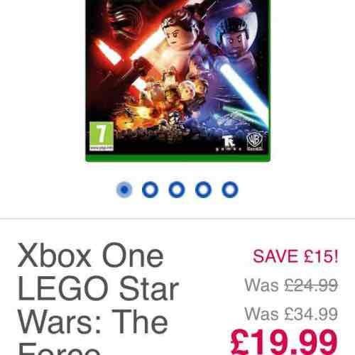 XBOX ONE: LEGO Star Wars the force awakens £19.99 toysrus