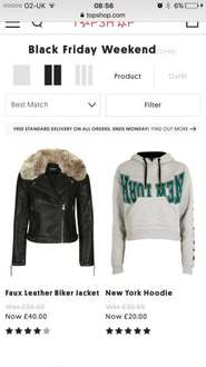 Topshop have their Black Friday sale now on, upto 50% off