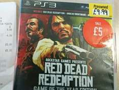 Red Dead Redemption: Game of the Year (PS3) £5 Preowned @ GAME (Instore)