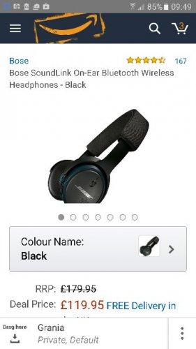 Bose Soundlink on ear bluetooth headphones £119.95 at Amazon