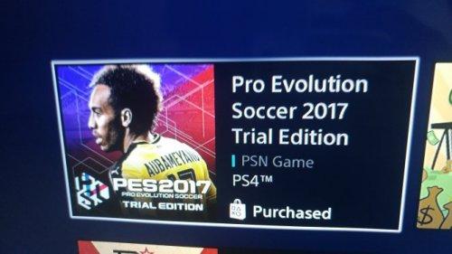 Pro Evolution Soccer 2017 Trial Edition PSN