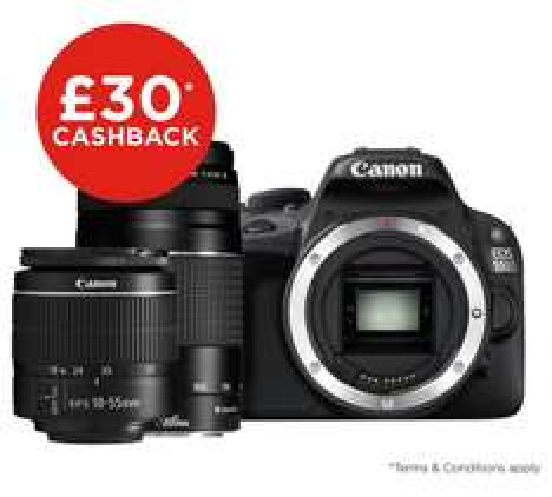 Canon EOS 100D DSLR Camera with 18-55mm & 75-300mm Lenses £369.99 + £30 cashback Argos