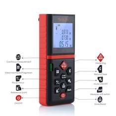 Handheld Laser Distance Meter with Bubble Level - up to 60M - £21.99 Sold by JSE tools and Fulfilled by Amazon