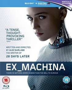 Ex Machina (Blu-Ray + Ultraviolet digital copy) - £3.95 at Zoom (with code)