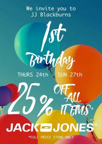 Jack & Jones Blackburn - 25% off all full price items instore!