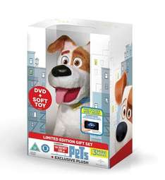 The Secret Life Of Pets (Limited Edition with Max Plush) [DVD and Plush Toy] £9.00 using code SIGNUP10 & free delivery @ zoom.co.uk