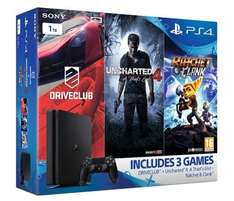 PS4 Slim 1TB Console + Uncharted 4 + Driveclub + Ratchet & Clank for £240 @ shopto ebay