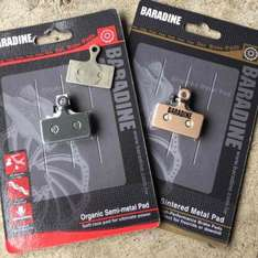 baradine XTR mountain bike disc brake pads £0.99 or £1.99 metal sintered a pair @ wheelies (also fits deore,slx,xt shimano hydraulic brakes) Delivered