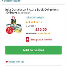10 Julia Donaldson books - £10 @ The Book People
