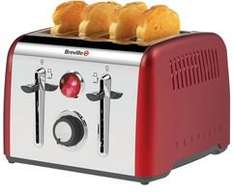 BREVILLE Opula 4 Slice Toaster (red) Stainless Steel £17.99 delivered @CPC