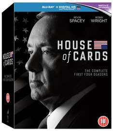 House of Cards: Seasons 1-4 (+ Digital HD UltraViolet Copy) (Blu-Ray) £32.00 @ ZOOM