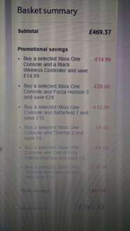 Xbox one S deal on Tesco direct