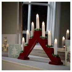7 light Christmas Candle Bridge £5  @ tesco