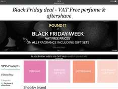 VAT free prices on all perfumes & gift sets at Debenhams Online