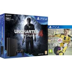 Ps4 slim 500gb with uncharted 4 and fifa 17 at MyGeekBox for £199