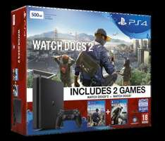 PS4 Slim 500GB Console Watch Dogs 1 & 2 Bundle / FIFA 17 & Uncharted 4 £197.86 Each Delivered @ Shopto