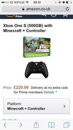 Xbox Minecraft Bundle With Extra Controller £229.99 @ Amazon