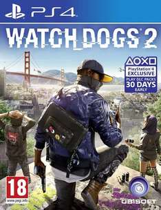 Watch Dogs 2 PS4/XB1 £32.99 @ Amazon (£30.99 with Prime)