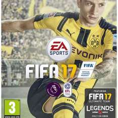 Fifa 17 on Xbox one and PS4 £32.99 @ Amazon
