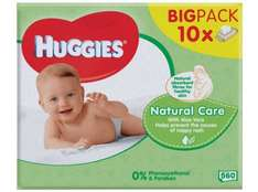 Huggies Natural Care Baby Wipes 56 x 10 packs for £5 at Morrisons