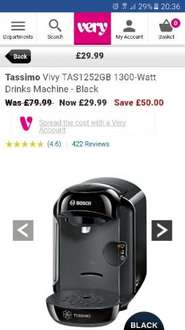 tassimo coffee maker at Very for £29.99