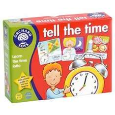 tell the time orchard toys at Tesco for £2.97