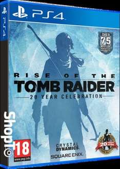 Rise of the Tomb Raider 20 Year Celebration (PS4) - Art Book Edition + Iron on patch £29.86 @ ShopTo