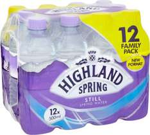 Highland Spring Still Natural Spring Water (12x500ml) 75p instore @ Tesco